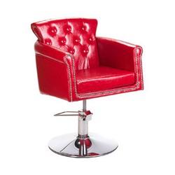 Fotel fryzjerski ALBERTO BH-8038 Czerwony