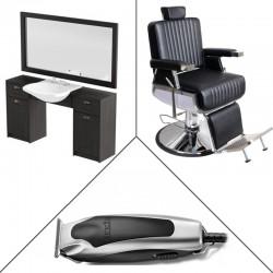 Zestaw PANDA konsoleta RETRO z fotelem SAM oraz zestaw maszynek ANDIS w prezencie