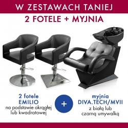 Zestaw 2x MDM fotel EMILIO + PANDA myjnia DIVA.TECH / MVII