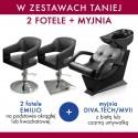 Zestaw 2x Panda fotel EMILIO + PANDA myjnia DIVA.TECH / MVII