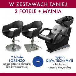 Zestaw 2x MDM fotel LORENZO + PANDA myjnia DIVA.TECH / MVII