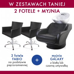 Zestaw 2x MDM fotel FABIO + PANDA myjnia GALAXY