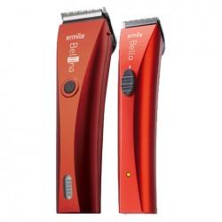 Zestaw maszynek fryzjerskich Ermila Bellina+Bella czerwone
