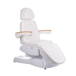 Fotel kosmetyczny elektryczny LUX BW-273B-4 Biały