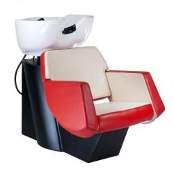 Myjnia fryzjerska NICO czerwono-kremowa BD-7821