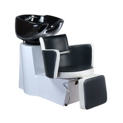 Myjnia fryzjerska LUIGI BR-3542 czarno-biała