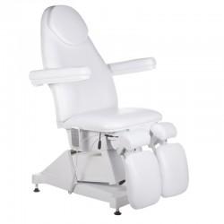 Elektryczny fotel kosmetyczny AMALFI BT-156 Biały