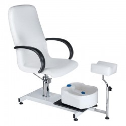 Fotel do pedicure z masażerem stóp BW-100 biały