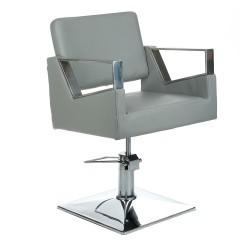 Fotel fryzjerski Arturo BR-3936A jasny szary