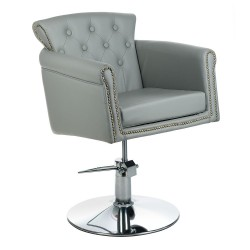 Fotel fryzjerski ALBERTO BH-8038 jasny szary