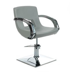 Fotel fryzjerski Nino BH-8805 jasny szary